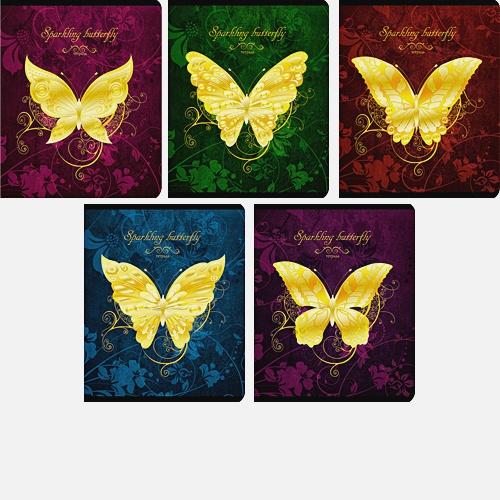 Золотые бабочки (Sparkling butterfly) 48л., 5 видов