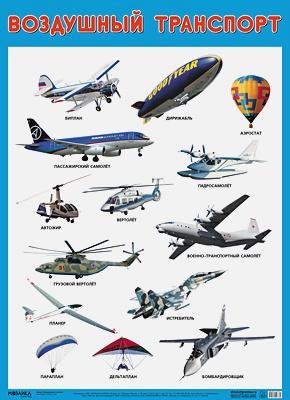 Нафиков Р. М. - Развивающие плакаты. Воздушный транспорт обложка книги