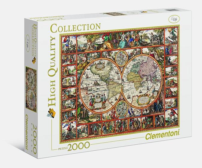 CLem.Пазл. 2000эл. Классика.32551 Старинная карта мира (n)