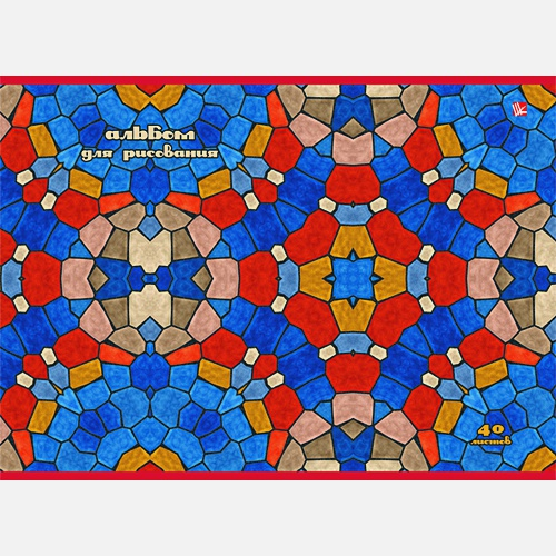 Яркая мозаика (склейка, 40л.)