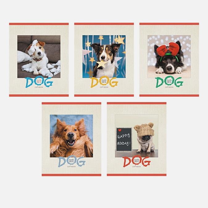 Тетрадь в линейку «Забавная собака», А5, 40 листов