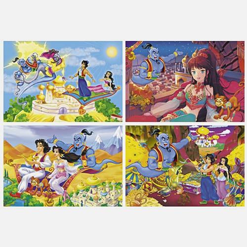 Приключения Аладдина (Битва Джиннов,Жасмин и Джинн,Волшебная лампа,Пещера сокровищ)