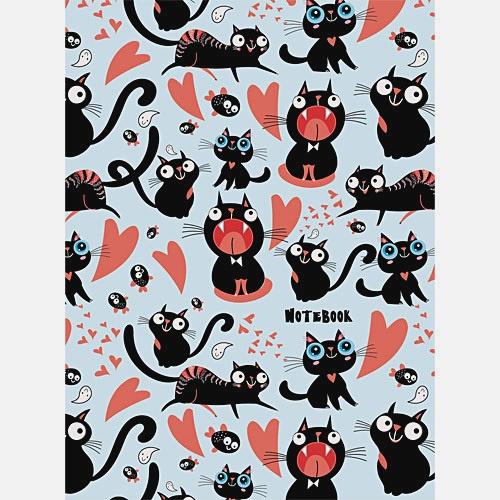 Влюбленные коты (графика)