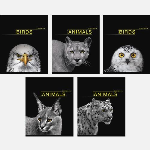 Дикая природа (животные и птицы) 48л., 5 видов