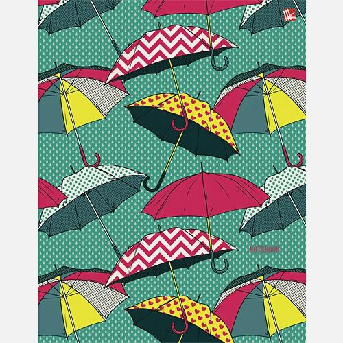 Графика. Разноцветные зонтики А5 80л.