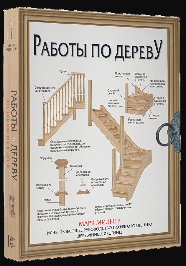 Милнер М. - Работы по дереву. Лестницы от А до Я обложка книги
