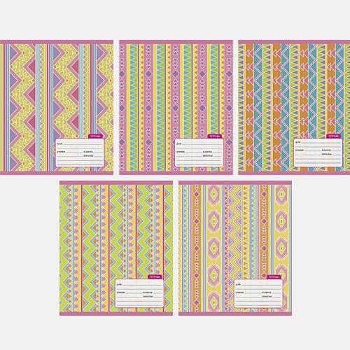 Геометрический орнамент  (линия), 5 видов
