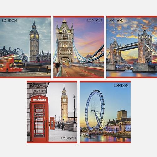 Путешествие по Лондону 48 л., 5 видов (линия)