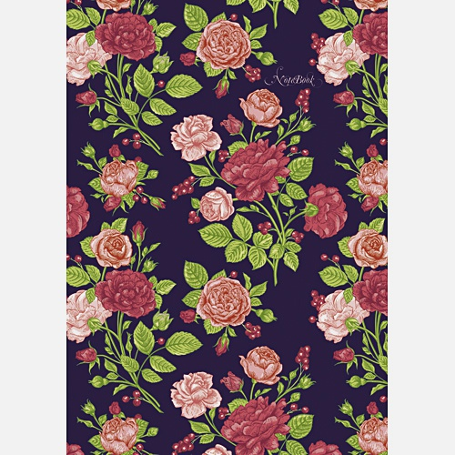 Цветы.  Прекрасные розы (орнамент)