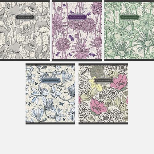 Цветочный вальс (орнамент) 48л., 5 видов