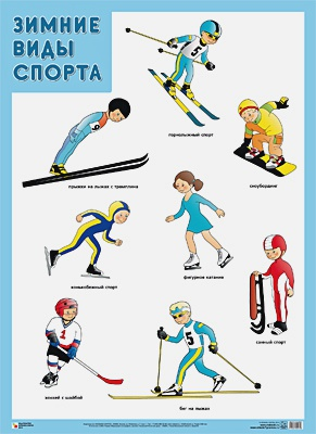 Нафиков Р. М. - Развивающие плакаты. Зимние виды спорта обложка книги