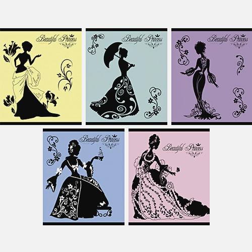 Силуэт принцессы 48л., 5 видов