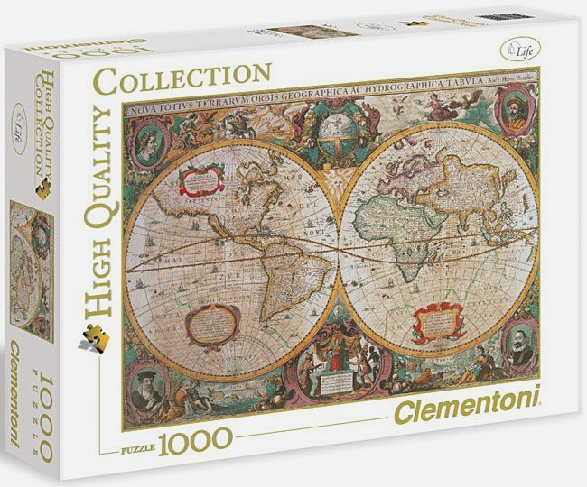 Пазл 1000 эл. Древняя карта мира