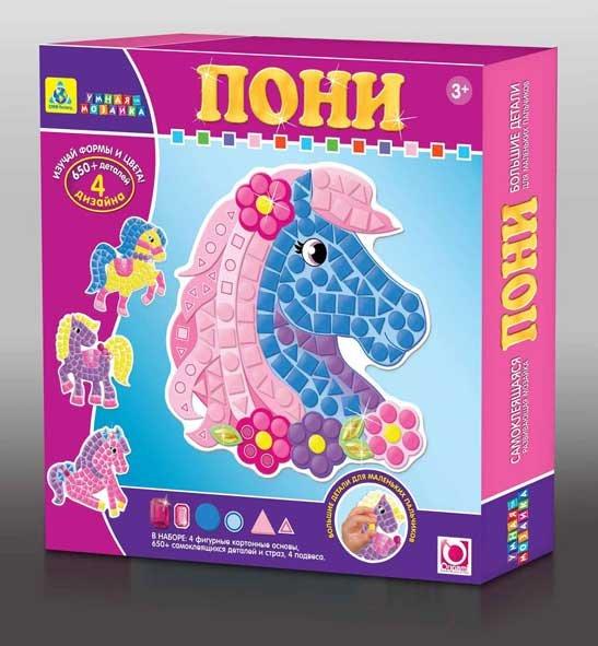 Мозаика-набор для малышей. Пони (4 шт. ) арт. 05072