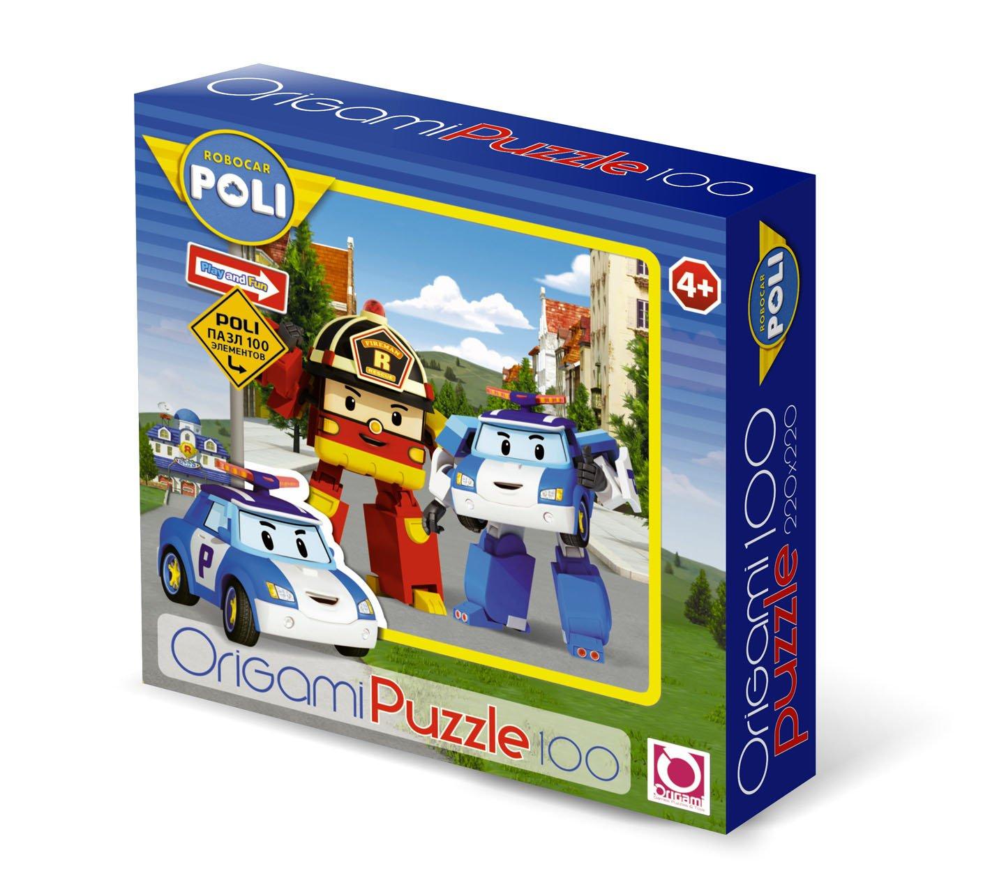 Робокар Поли.Пазл.100Эл.Рой и Поли.05896 origami robocar 05896