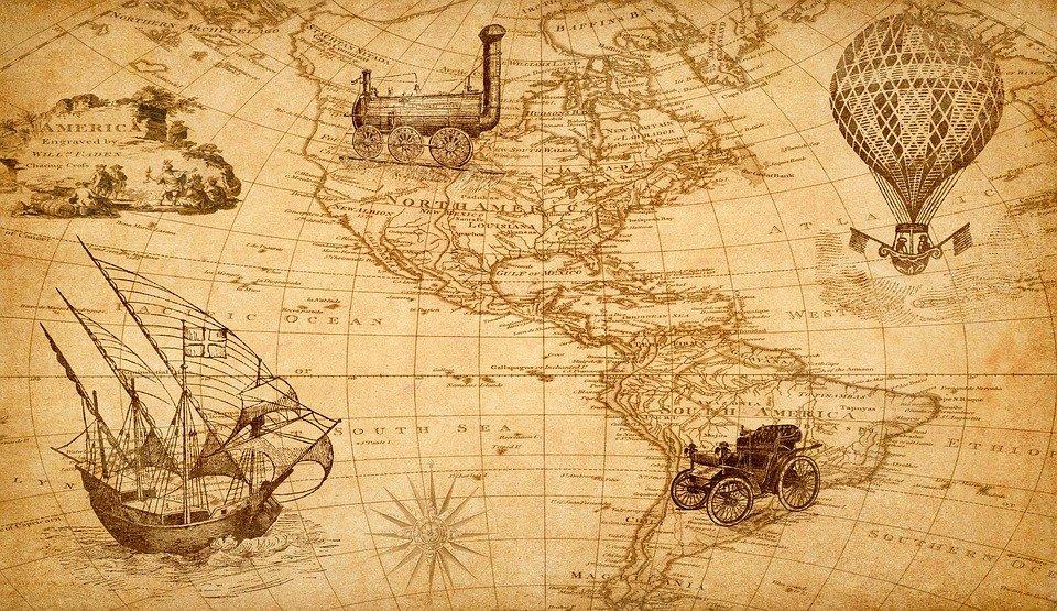 Старая карта Америки